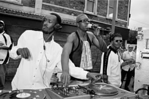 Soundsystem outside the former Crystal Dove blues club, St Paul's Carnival, July 1998
