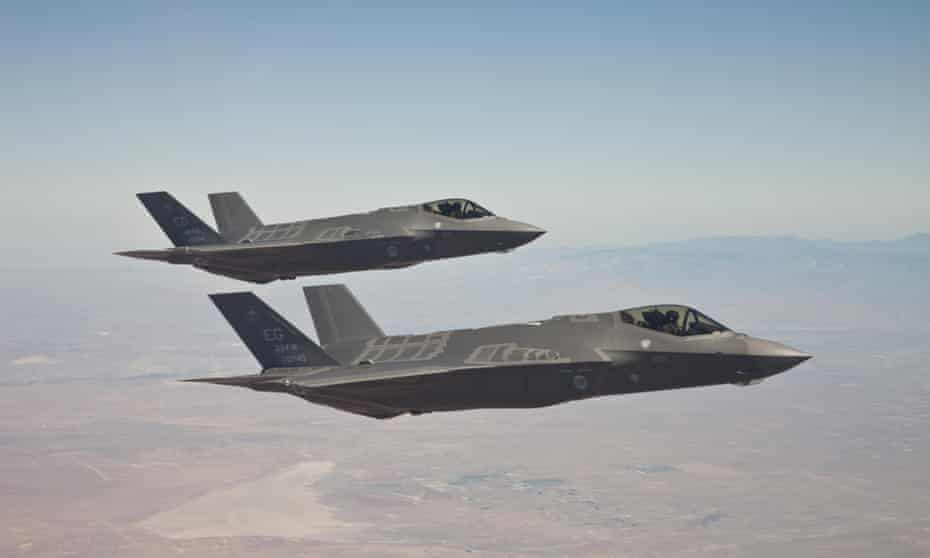 US F-35 Joint Strike Fighters in flight testing. The Australian government has approved the purchase of another 58 joint strike fighters at a cost of $12.4bn.