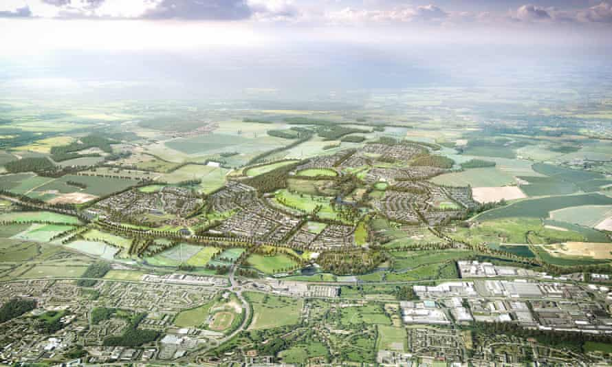 Green dream … the proposed garden town planned around Harlow.