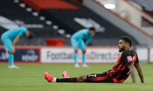 Bournemouth's Joshua King reacts after the final whistle.