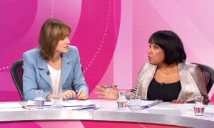 Fiona Bruce and Diane Abbott on Question Time … handling of the controversy made things worse.