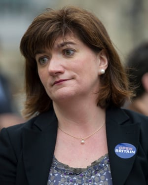 The Treasury select committee chair, Nicky Morgan