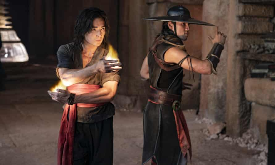 Ludi Lin, left, and Max Huang in Mortal Kombat.