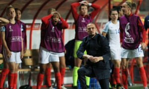 Mark Sampson and England fell well short in their Euro 2017 semi-final against Holland.