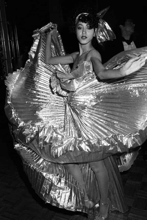 Pat Cleveland at a Halston party at Studio 54, New York, in December 1977.