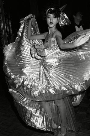 Pat Cleveland at a Halston party at Studio 54 in New York in December 1977.