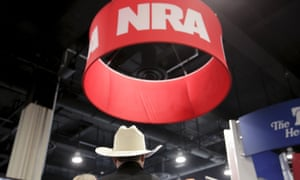 The NRA booth at CPAC, not a hotbed of Sanders support.