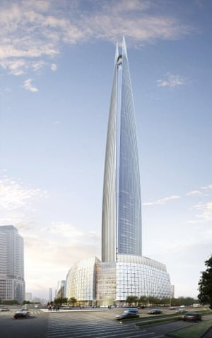 The Lotte World Tower is estimated to cost $US1.25 billion, and will tower over the skyline of Seoul, south Korea