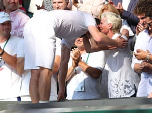 2013: Murray celebrates with Judy after winning the men's singles title at Wimbledon, the first of two successes at SW19