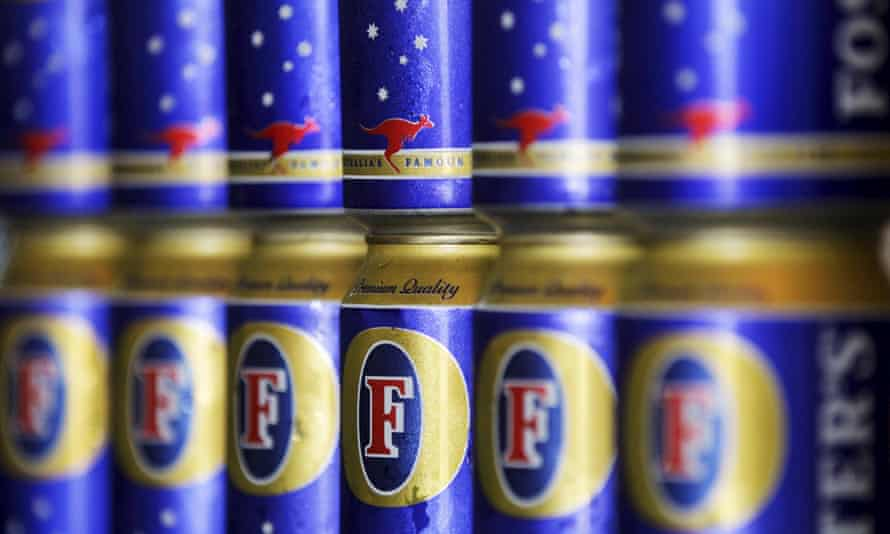 File photo of cans of Foster's beer