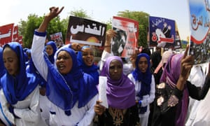 A Sudanese protest against an Israeli military offensive on the Gaza Strip in 2014.