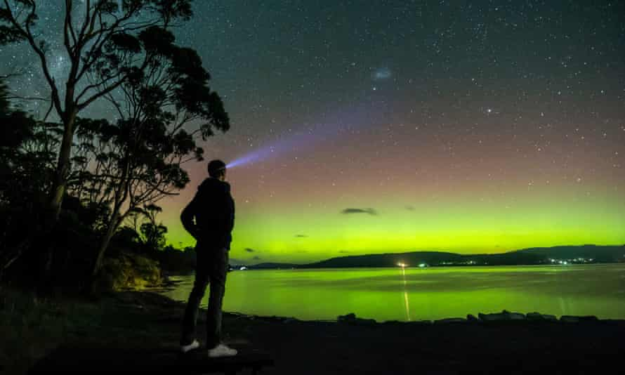 Aurora Australis seen from South Arm Peninsula near Hobart