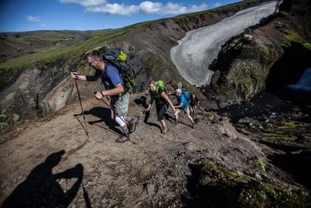 Trekking in Iceland's other-worldly terrain