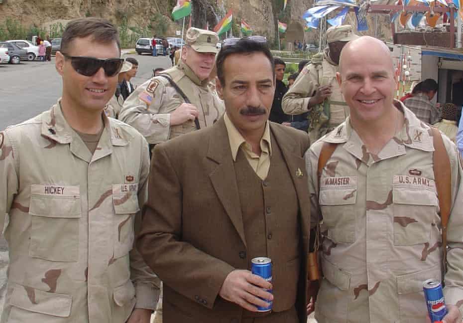 McMaster in Iraq, with Tal Afar mayor Najim Abadullah Al-Jibouri and Lt Col Christopher Hickey.