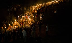 The far right rally at Charlottesville.
