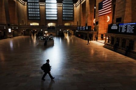 Grand Central Terminal stands mostly empty as most New Yorkers have been told to stay home and avoid contact with other people.