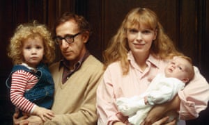 Woody Allen and Mia Farrow with Dylan (left) and Ronan Farrow in 1988.