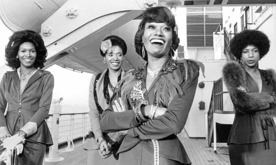 Bonnie Pointer, foreground, with her sisters, left to right Ruth, Anita and June, in 1974.