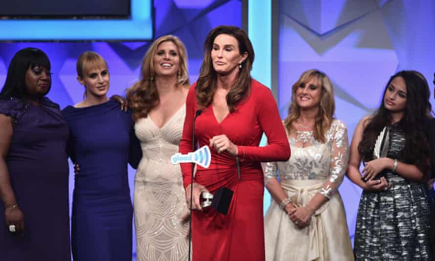Jenner accepts the award for outstanding reality program for I am Cait at the Glaad media awards in April.