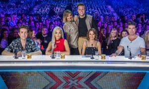 Caroline Flack, Olly Murs, Nick Grimshaw, Rita Ora, Cheryl Fernandez-Versini and Simon Cowell.