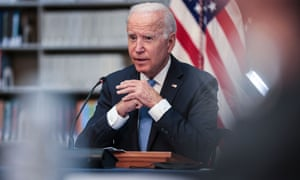 President Joe Biden hosts a meeting with business leaders and CEOs on the Covid-19 response, in Washington DC on Wednesday.