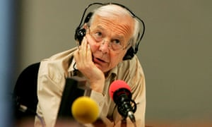 John Humphrys in the Radio 4 Today programme studios in 2005