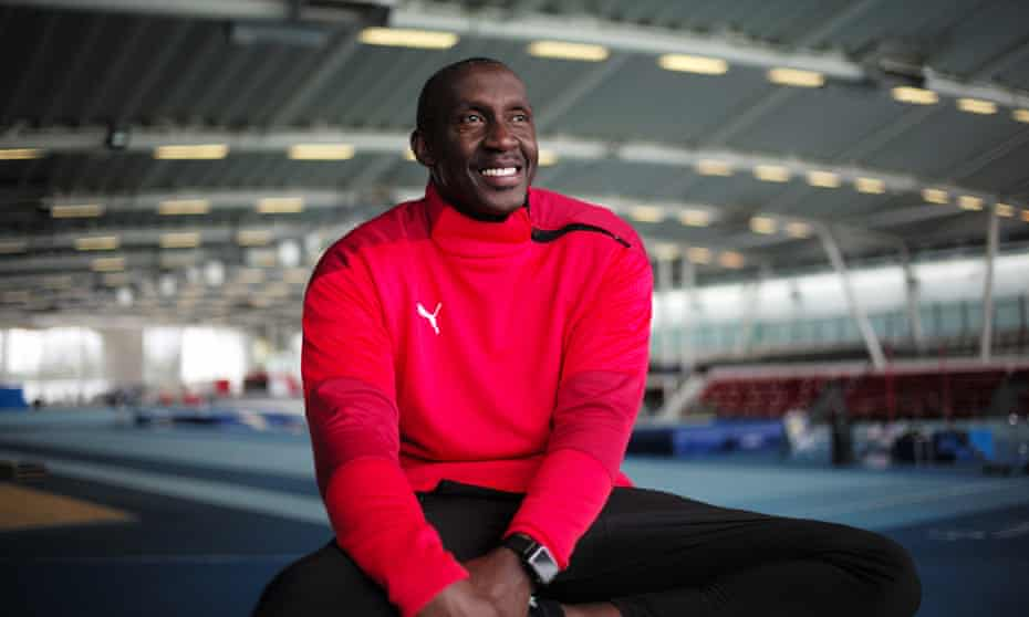 Linford Christie, pictured at the Lee Valley Athletics Park, north London.