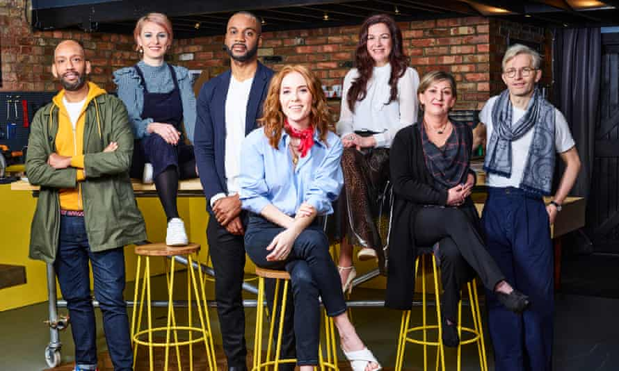 Angela Scanlon (centre) with the team in Your Home Made Perfect.