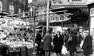 Brixton Market, south London. 22 Jan 1981