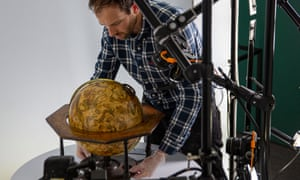 The process allows people to see close-up detail of the globes online.