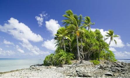 The Funafuti atoll on Tuvalu.