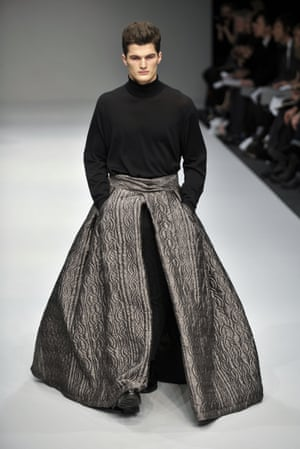During his 2009 show, JW Anderson's male models wore skirts.