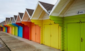 Scarborough's refurbished beach chalets.
