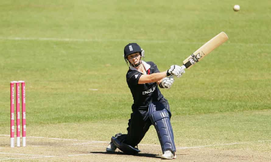Claire Taylor in action with England at the 2009 Women's World Cup against West Indies.