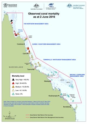 Coral loss government map