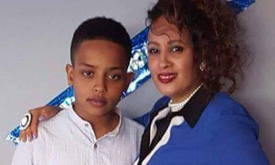 Biruk Haftom and his mother, Berkti, who both died in the fire at Grenfell Tower.