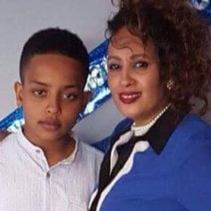 Berkti Haftom and her son Biruk
