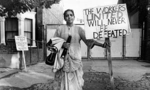 Jayaben Desai, whose leadership of the Grunwick dispute 'changed the face of trade unionism in this country'.