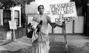Treasurer of the Grunwick strike committee Mrs Jayaben Desai.