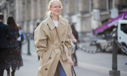 A trenchcoat at Paris fashion week, September 2017