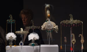 The al-Thani collection of 270 items belonging to Indian maharajahs on display in New York in 2014.