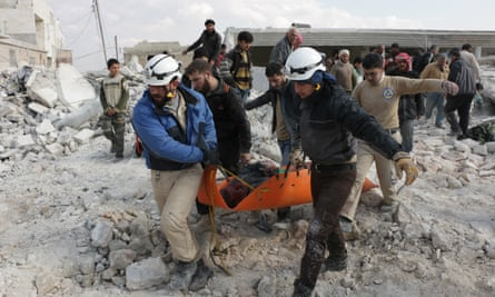'White helmets' rescue the wounded but their work has got far deadlier in recent weeks.