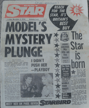 Daily Star's first edition.