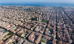 The Eixample district of Barcelona, Spain.