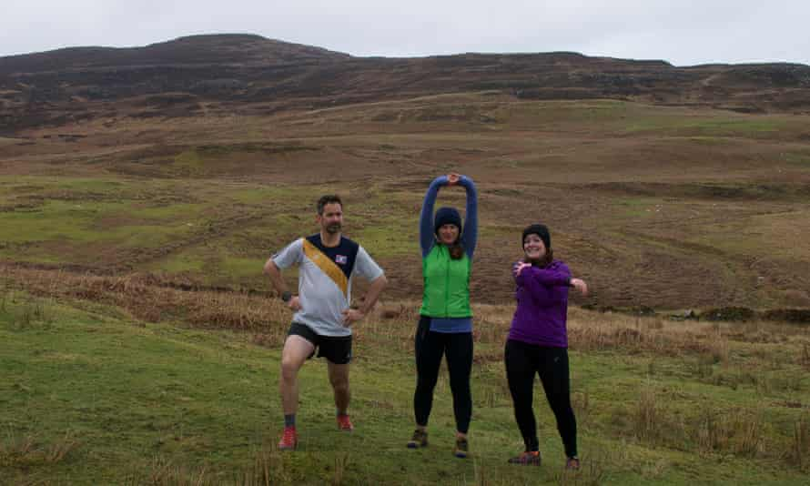 The Eigg Running Club with the writer on the left.