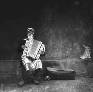 Michal Koralewski from Kozieglowy, Poland, won photographer of the year with this image of an accordionist in a square in Warsaw.