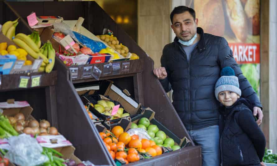 Serkan Ozturk at his fruit stall