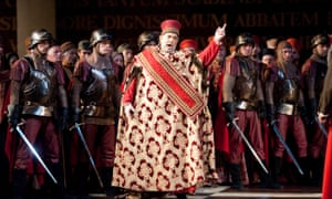 Domingo in Simon Boccanegra at London's Royal Opera House in 2010.