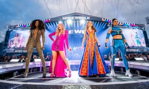 The Spice Girls in a reunion concert at Croke Park in Dublin in May 2019