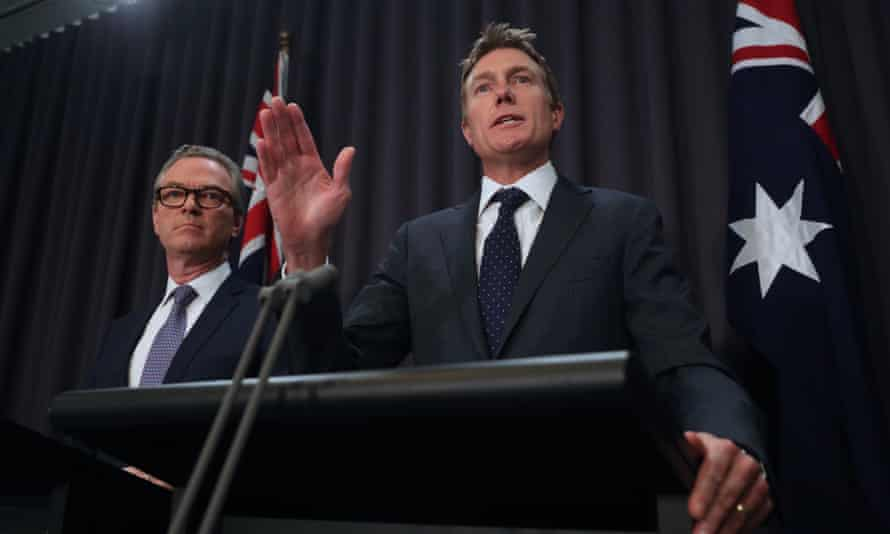 The attorney general, Christian Porter, and the leader of the House, Christopher Pyne